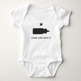 Body Para Bebê Vem tomar-lhe o preto da garrafa de bebê