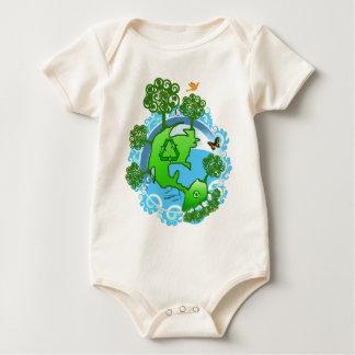 Body Para Bebê Vencedor do prêmio do TBA um reciclar global