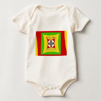 Body Para Bebê Verde dourado vermelho da cor de Hakuna Matata