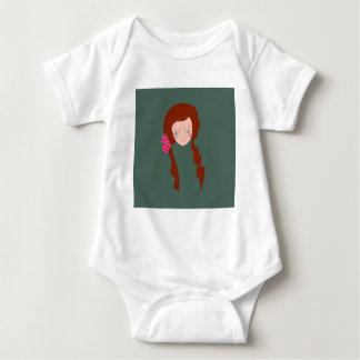 Body Para Bebê Verde longo de Eco do cabelo da MULHER do