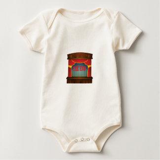 Body Para Bebê vermelho a cortina da extremidade