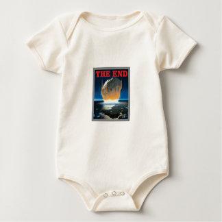 Body Para Bebê vermelho a extremidade asteróide