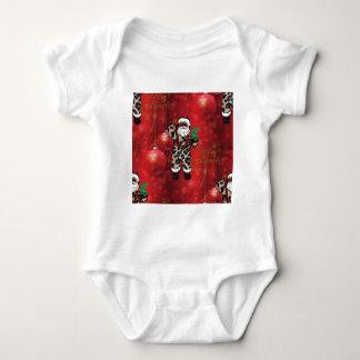 Body Para Bebê vermelho africano de claus do leopardo do papai