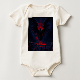 Body Para Bebê Vermelho angélico e azul do guardião