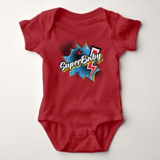 Body Para Bebê VERMELHO cómico do presente do bodysuit do
