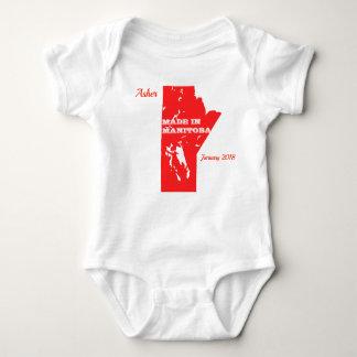Body Para Bebê Vermelho customizável feito no Bodysuit do bebê de