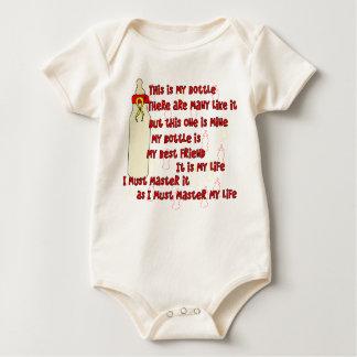 Body Para Bebê Vermelho do credo da garrafa