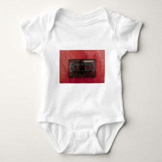 Body Para Bebê Vermelho do vintage da música da cassete de banda
