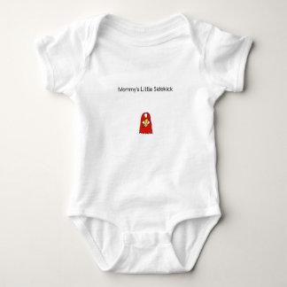 Body Para Bebê Vermelho pequeno do cabo do super-herói do