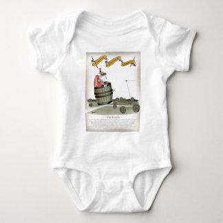 Body Para Bebê vermelhos do treinador de futebol