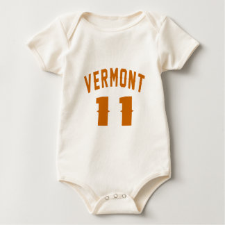 Body Para Bebê Vermont 11 designs do aniversário