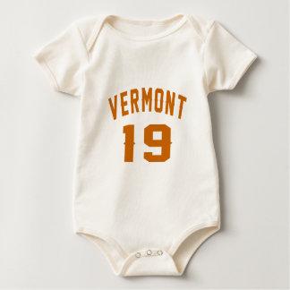 Body Para Bebê Vermont 19 designs do aniversário