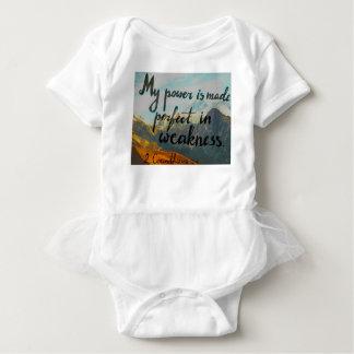 Body Para Bebê Verso da bíblia sobre o poder & a escrita da