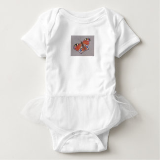 Body Para Bebê Veste a Turquia-Turquia com borboleta de pavão