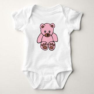 Body Para Bebê Veste cor-de-rosa do bebê do ursinho