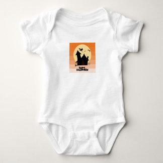"""Body Para Bebê """"Veste Curto-Sleeved do Dia das Bruxas feliz"""""""