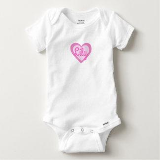 Body Para Bebê Veste Customisable do bebê de Gerber do coração