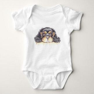 Body Para Bebê Veste do bebê com o filhote de cachorro máximo os