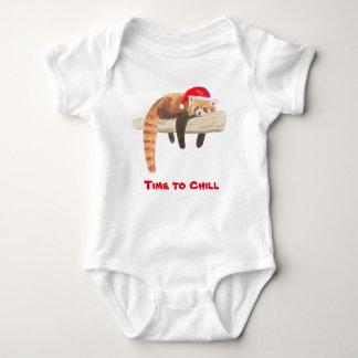 Body Para Bebê Veste do bebê da panda vermelha do Natal