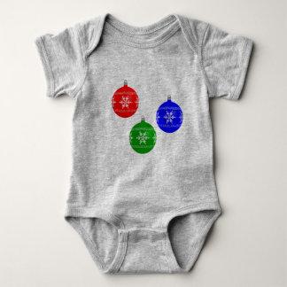 Body Para Bebê Veste do bebê do Natal dos Baubles