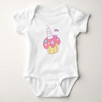 Body Para Bebê Veste do cupcake do unicórnio