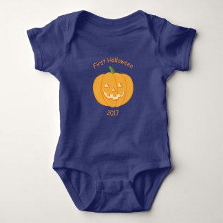 Body Para Bebê Veste o primeiro Dia das Bruxas do bebê da abóbora