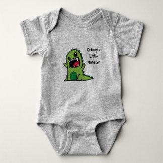 Body Para Bebê Veste pequena do bebê do monstro da avó