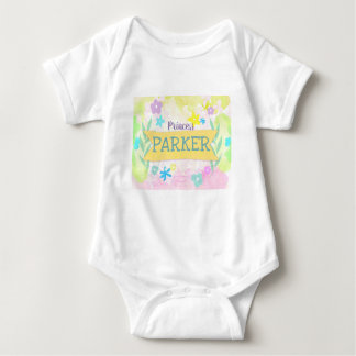 Body Para Bebê Vestuário floral do bebê do elemento