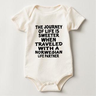 Body Para Bebê Viajado com um sócio norueguês da vida
