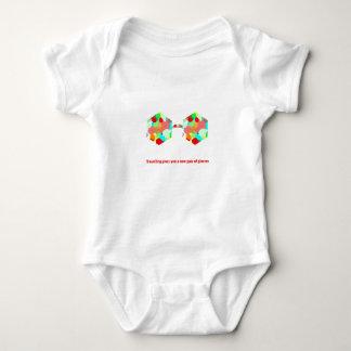 Body Para Bebê Viajar dá-lhe um par de vidros novo
