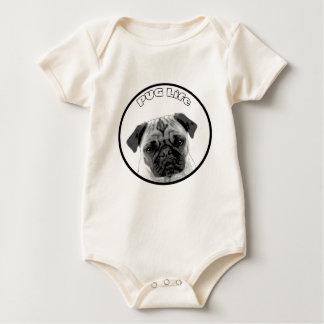 Body Para Bebê Vida 2 do Pug