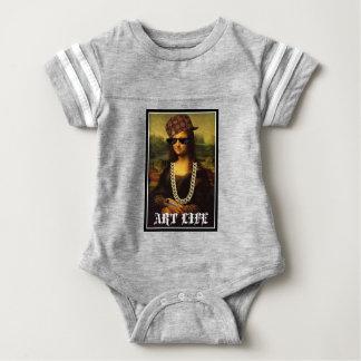 Body Para Bebê Vida da arte da vida do vândalo de Mona Lisa