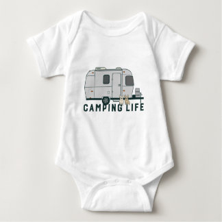 Body Para Bebê Vida de acampamento feliz com Frenchies bonitos