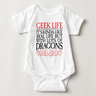Body Para Bebê Vida do geek com dragões