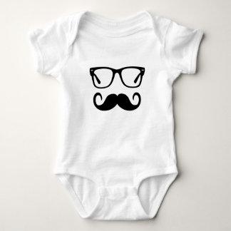 Body Para Bebê Vidros do hipster & bigode do guiador
