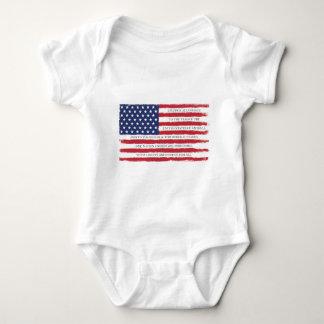 Body Para Bebê Vintage da garantia da bandeira americana