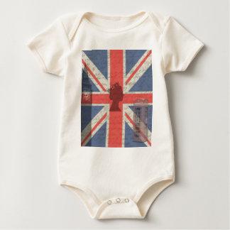Body Para Bebê Vintage Londres