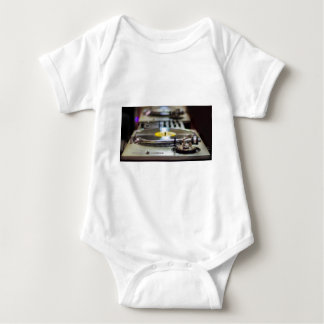 Body Para Bebê Vintage retro gravado plataforma giratória do som