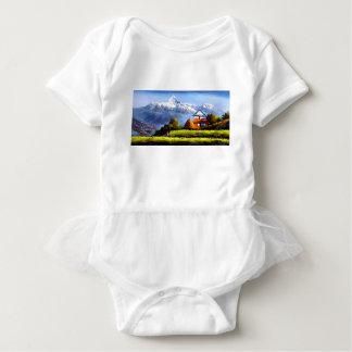 Body Para Bebê Vista panorâmica da montanha bonita de Everest