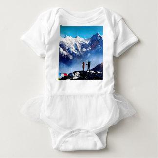 Body Para Bebê Vista panorâmica da montanha máxima de Ama Dablam