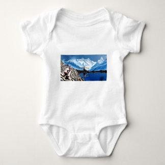 Body Para Bebê Vista panorâmica da montanha Nepal de Annapurna