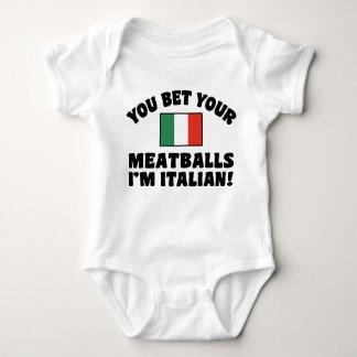 Body Para Bebê Você aposta seus Meatballs que eu sou italiano