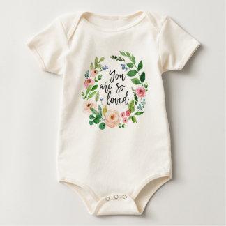 Body Para Bebê Você é assim que Bodysuit infantil floral amado da