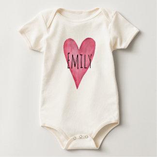 Body Para Bebê Você é Bodysuit orgânico amado do bebê