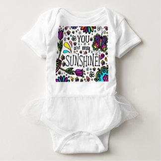 Body Para Bebê Você é meu tutu colorido corajoso da borboleta da