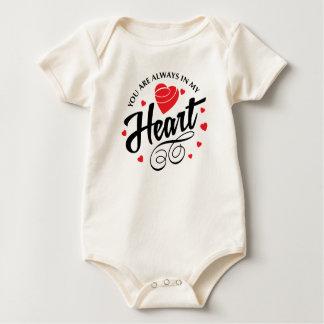 Body Para Bebê Você está sempre em meu Bodysuit dos namorados |