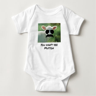 Body Para Bebê Você não viu a carne de carneiro