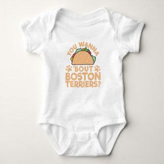 Body Para Bebê Você quer aos terrier de Boston do ataque do Taco?