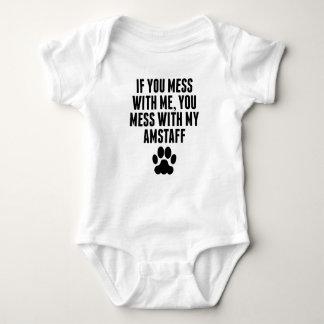 Body Para Bebê Você suja com meu AmStaff