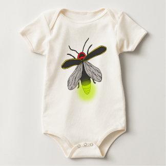 Body Para Bebê vôo do inseto de relâmpago iluminado